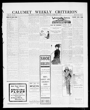 Primary view of object titled 'Calumet Weekly Criterion (Oklahoma [Calumet], Okla.), Vol. 4, No. 29, Ed. 1 Thursday, February 1, 1912'.