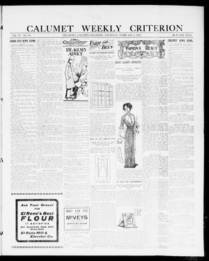 Primary view of object titled 'Calumet Weekly Criterion (Oklahoma [Calumet], Okla.), Vol. 4, No. 30, Ed. 1 Thursday, February 8, 1912'.