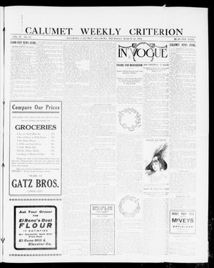 Primary view of object titled 'Calumet Weekly Criterion (Oklahoma [Calumet], Okla.), Vol. 4, No. 37, Ed. 1 Thursday, March 28, 1912'.