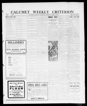 Primary view of object titled 'Calumet Weekly Criterion (Oklahoma [Calumet], Okla.), Vol. 4, No. 39, Ed. 1 Thursday, April 11, 1912'.