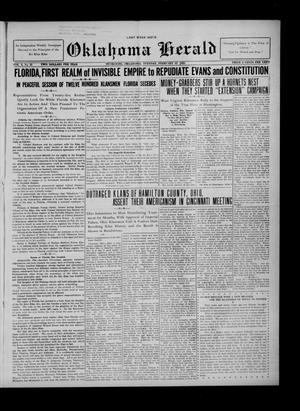 Primary view of Oklahoma Herald (Muskogee, Okla.), Vol. 3, No. 21, Ed. 1 Tuesday, February 12, 1924