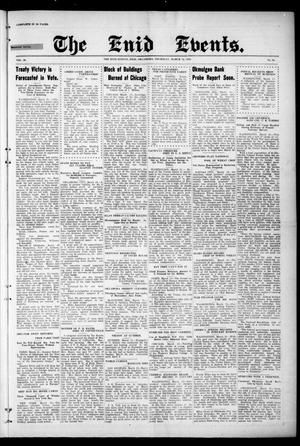 Primary view of The Enid Events. (Enid, Okla.), Vol. 29, No. 24, Ed. 1 Thursday, March 16, 1922