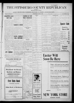 Primary view of The Pittsburg County Republican (Hartshorne, Okla.), Vol. 3, No. 50, Ed. 1 Thursday, March 23, 1922