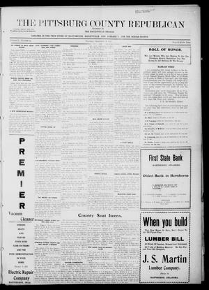 Primary view of object titled 'The Pittsburg County Republican (Hartshorne, Okla.), Vol. 3, No. 24, Ed. 1 Thursday, September 8, 1921'.