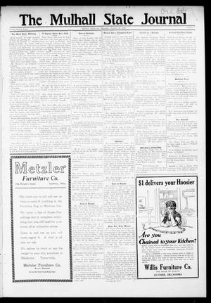 Primary view of object titled 'The Mulhall State Journal (Mulhall, Okla.), Vol. 22, No. 4, Ed. 1 Thursday, October 13, 1921'.