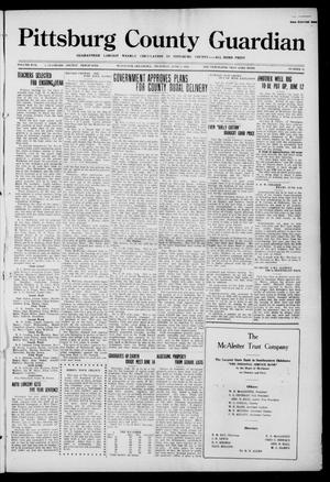 Primary view of object titled 'Pittsburg County Guardian (McAlester, Okla.), Vol. 17, No. 41, Ed. 1 Thursday, June 1, 1922'.