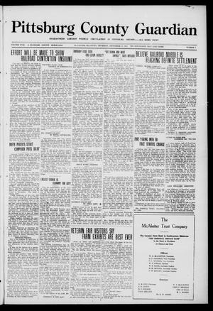 Primary view of object titled 'Pittsburg County Guardian (McAlester, Okla.), Vol. 18, No. 4, Ed. 1 Thursday, September 14, 1922'.