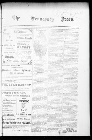 Primary view of object titled 'The Hennessey Press. (Hennessey, Okla.), Vol. 1, No. 22, Ed. 1 Saturday, December 22, 1894'.