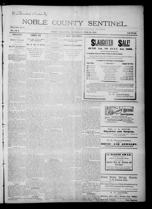 Primary view of Noble County Sentinel. (Perry, Okla.), Vol. 3, No. 41, Ed. 1 Thursday, June 25, 1896