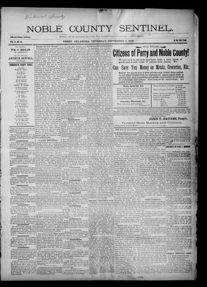 Primary view of Noble County Sentinel. (Perry, Okla.), Vol. 3, No. 51, Ed. 1 Thursday, September 3, 1896