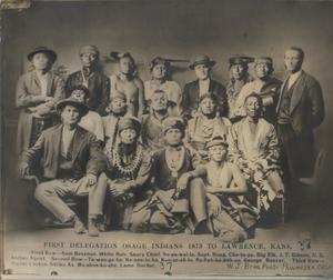 Primary view of Osage Indian Delegation
