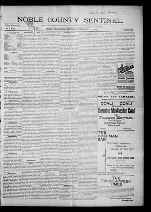 Primary view of Noble County Sentinel. (Perry, Okla.), Vol. 4, No. 22, Ed. 1 Thursday, February 11, 1897