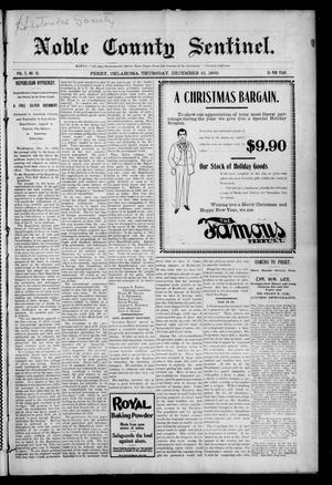 Primary view of Noble County Sentinel. (Perry, Okla.), Vol. 7, No. 15, Ed. 1 Thursday, December 21, 1899