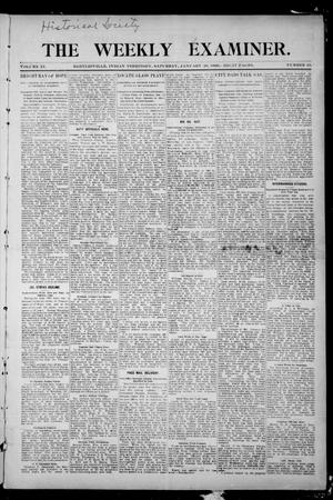 Primary view of object titled 'The Weekly Examiner. (Bartlesville, Indian Terr.), Vol. 11, No. 46, Ed. 1 Saturday, January 20, 1906'.