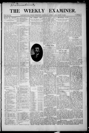 Primary view of object titled 'The Weekly Examiner. (Bartlesville, Indian Terr.), Vol. 12, No. 5, Ed. 1 Saturday, April 7, 1906'.