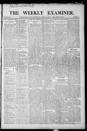 Primary view of object titled 'The Weekly Examiner. (Bartlesville, Indian Terr.), Vol. 12, No. 18, Ed. 1 Saturday, July 7, 1906'.