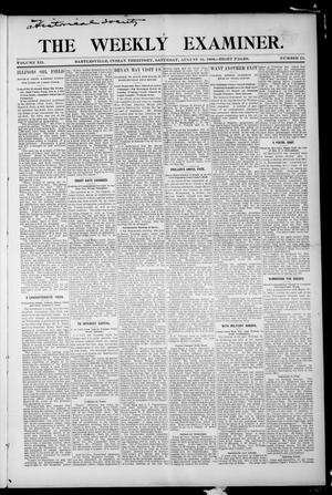 Primary view of object titled 'The Weekly Examiner. (Bartlesville, Indian Terr.), Vol. 12, No. 24, Ed. 1 Saturday, August 18, 1906'.