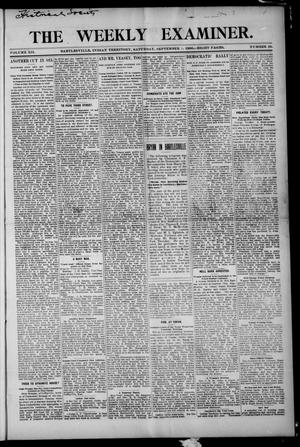 Primary view of object titled 'The Weekly Examiner. (Bartlesville, Indian Terr.), Vol. 12, No. 26, Ed. 1 Saturday, September 1, 1906'.