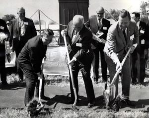 Primary view of object titled 'Groundbreaking at the site of the Uniroyal Tire Plant in Ardmore.'.