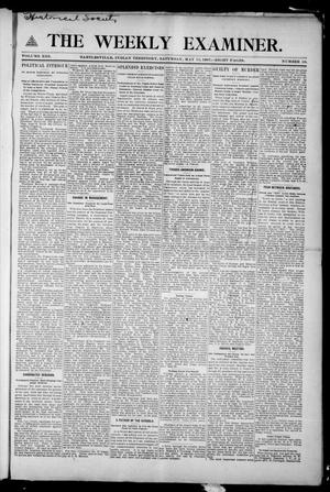Primary view of object titled 'The Weekly Examiner. (Bartlesville, Indian Terr.), Vol. 13, No. 10, Ed. 1 Saturday, May 11, 1907'.