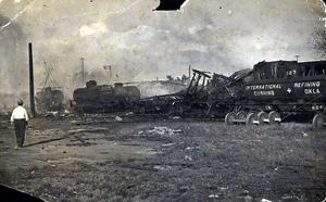 Primary view of object titled 'A collection of pictures taken after the Sept. 15, 1915 explosion. (8)'.