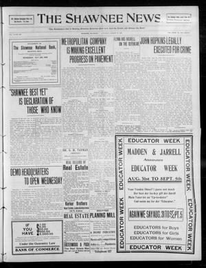 Primary view of object titled 'The Shawnee News. (Shawnee, Okla.), Vol. 13, No. 307, Ed. 1 Saturday, August 29, 1908'.