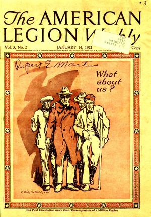 Primary view of object titled 'The American Legion Weekly magazine'.