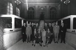 Primary view of object titled 'Employees of the First National Bank in Ardmore.'.
