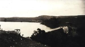 Primary view of object titled 'Construction work at Mountain Lake during the summer of 1922. (11)'.