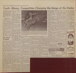 Primary view of object titled 'Youth, Money, Competition Changing The Image of the Rodeo'.