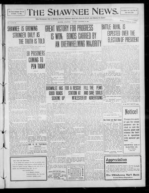Primary view of object titled 'The Shawnee News. (Shawnee, Okla.), Vol. 14, No. 40, Ed. 1 Tuesday, December 29, 1908'.
