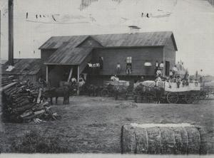 Primary view of object titled 'Dulaney Cotton Gin at Cornish, Ok.'.