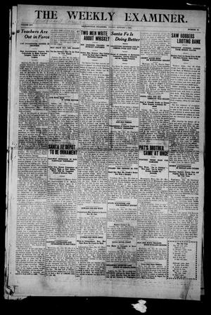 Primary view of object titled 'The Weekly Examiner. (Bartlesville, Okla.), Vol. 14, No. 42, Ed. 1 Friday, January 1, 1909'.