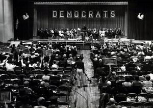 Primary view of object titled 'Democratic rally held in the Civic Auditorium in Ardmore.'.