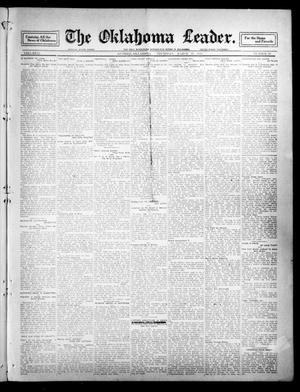 Primary view of object titled 'The Oklahoma Leader. (Guthrie, Okla.), Vol. 21, No. 20, Ed. 1 Thursday, March 30, 1911'.