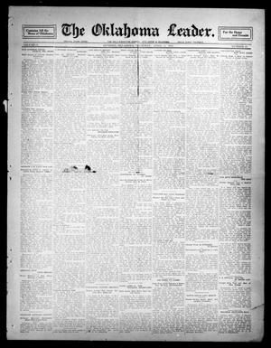 Primary view of object titled 'The Oklahoma Leader. (Guthrie, Okla.), Vol. 21, No. 21, Ed. 1 Thursday, April 6, 1911'.