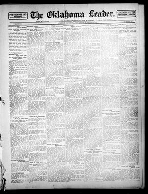 Primary view of object titled 'The Oklahoma Leader. (Guthrie, Okla.), Vol. 21, No. 21, Ed. 1 Thursday, October 19, 1911'.