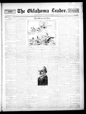 Primary view of object titled 'The Oklahoma Leader. (Guthrie, Okla.), Vol. 22, No. 13, Ed. 1 Thursday, February 22, 1912'.