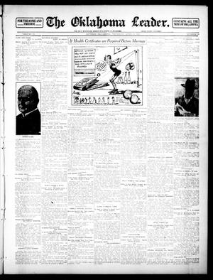 Primary view of object titled 'The Oklahoma Leader. (Guthrie, Okla.), Vol. 22, No. 19, Ed. 1 Thursday, April 11, 1912'.