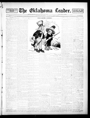 Primary view of object titled 'The Oklahoma Leader. (Guthrie, Okla.), Vol. 22, No. 20, Ed. 1 Thursday, April 25, 1912'.