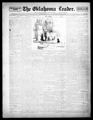 Primary view of object titled 'The Oklahoma Leader. (Guthrie, Okla.), Vol. 23, No. 7, Ed. 1 Thursday, August 1, 1912'.