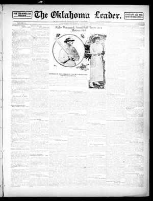 Primary view of object titled 'The Oklahoma Leader. (Guthrie, Okla.), Vol. 23, No. 22, Ed. 1 Thursday, November 14, 1912'.