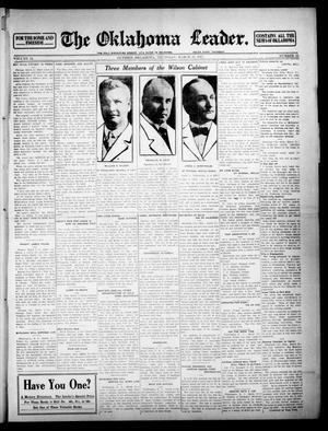 Primary view of object titled 'The Oklahoma Leader. (Guthrie, Okla.), Vol. 24, No. 12, Ed. 1 Thursday, March 13, 1913'.