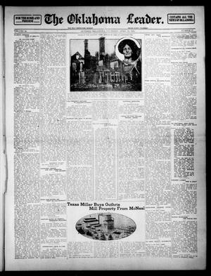 Primary view of object titled 'The Oklahoma Leader. (Guthrie, Okla.), Vol. 24, No. 17, Ed. 1 Thursday, April 10, 1913'.