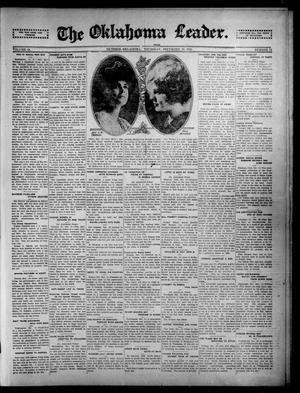 Primary view of object titled 'The Oklahoma Leader. (Guthrie, Okla.), Vol. 24, No. 51, Ed. 1 Thursday, December 18, 1913'.