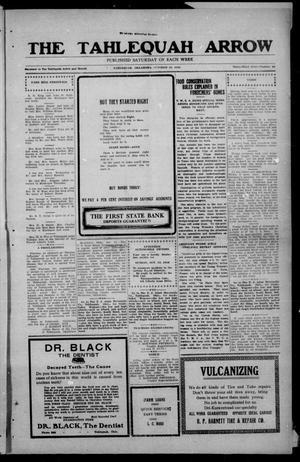 Primary view of The Tahlequah Arrow (Tahlequah, Okla.), Vol. 33, No. 29, Ed. 1 Saturday, October 12, 1918