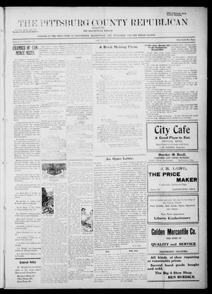 Primary view of object titled 'The Pittsburg County Republican (Hartshorne, Okla.), Vol. 3, No. 17, Ed. 3 Thursday, July 21, 1921'.