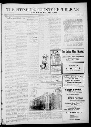 Primary view of object titled 'The Pittsburg County Republican (Hartshorne, Okla.), Vol. 3, No. 20, Ed. 2 Thursday, August 18, 1921'.
