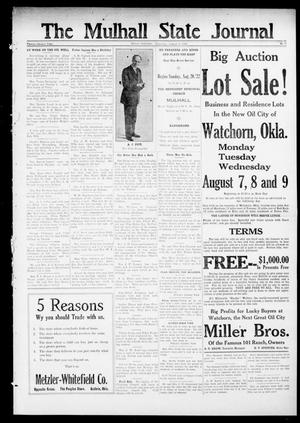 Primary view of object titled 'The Mulhall State Journal (Mulhall, Okla.), Vol. 22, No. 11, Ed. 1 Thursday, August 3, 1922'.