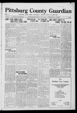 Primary view of object titled 'Pittsburg County Guardian (McAlester, Okla.), Vol. 8, No. 2, Ed. 1 Thursday, August 31, 1922'.